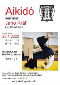 25.1.2020 - Aikido seminár s Jánom Kráľom (3. Dan Aikikai)